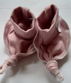 Trico slofjes handgemaakt in oud roze