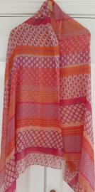 Vrolijke royale dunne sjaal polyester