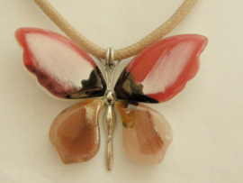 vlinderhanger kunsthars aan veter ketting