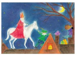De nieuwste Sinterklaaskaarten oliepastel