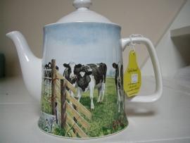 Theepot koeien 'hek open' 1 liter Wiebe v d Zee