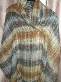 Mooie geweven sjaal in de kleuren bruin/grijs en ecru