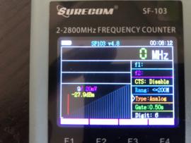 Frequentiecounter 2MHz - 3000MHz geschikt voor HF Surecom SF-103