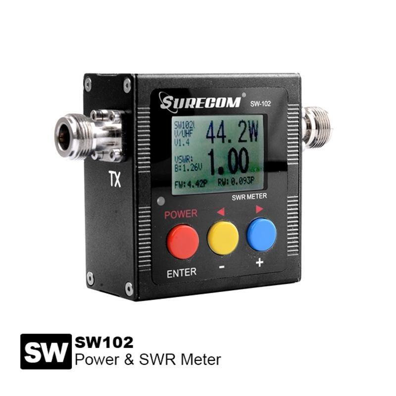 SWR meter / Frequentiecounter met digitale  uitlezing sw-102