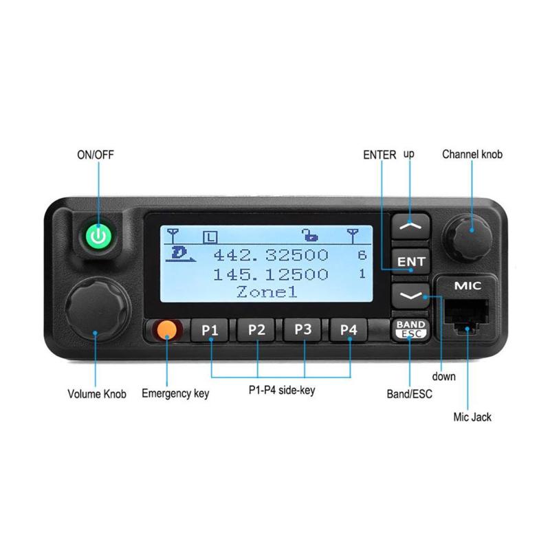 Retevis RT-90 / Tytera MD-9600  dualband dmr/analoog  mobilofoon gratis gps