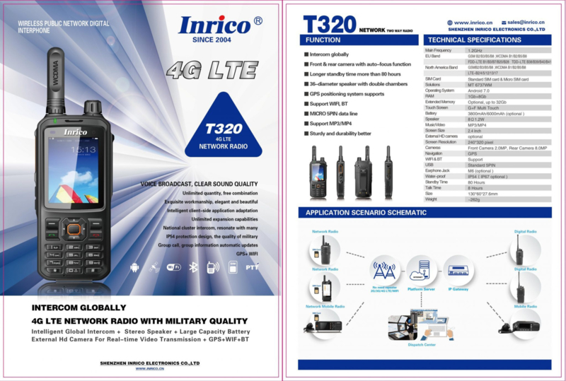 Inrico T320 voipportofoon 4G GPS