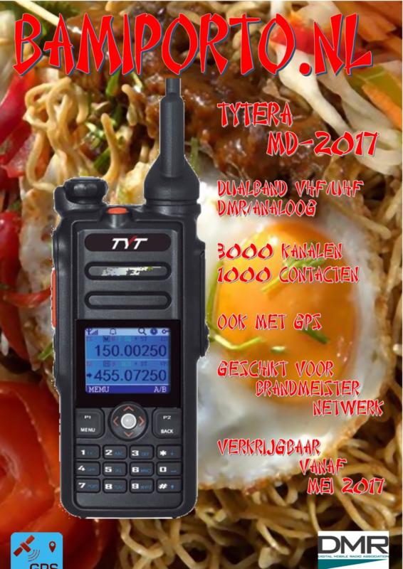 TYT MD-2017/Retevis RT82  Dualband DMR & Analoog portofoon gratis GPS