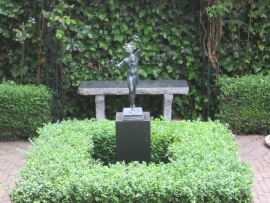 Granieten tuinbank BC - 17 kleur grijs / zwart
