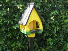 Vogelhuisje 74 - 4 Geel - Zwart