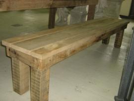 Eiken houten tuinbank