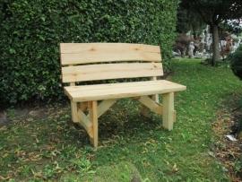 Robuuste Eiken houten tuinbank 120 cm