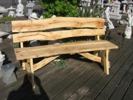 Robuuste eiken houten tuinbank / parkbank 220 cm