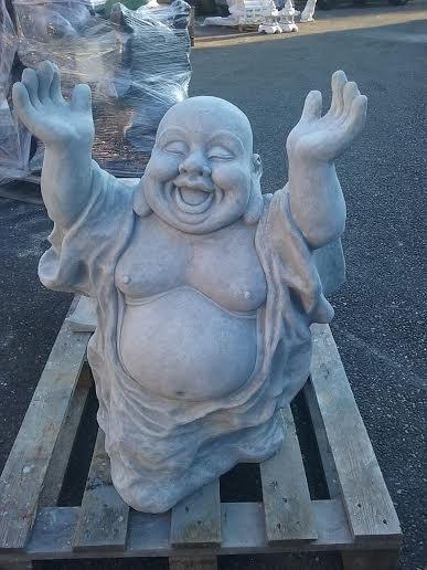 Boeddha Beeld Beton.Happy Boeddha Xxl Boeddha Beelden Granietdeco