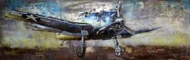 Eenmotorig gevechtsvliegtuig USA  - 3D metaal