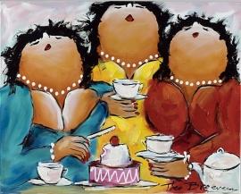 3 vriendinnen met veel zoetigheid