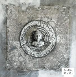 Boeddha 3D Grijs