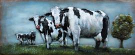 Koeien – Metalen 3D schilderij