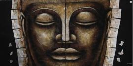 Boeddha  2 - luik  -  2 x 1 meter