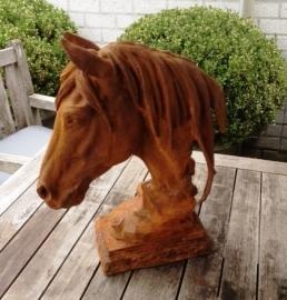 Paarden hoofd van gietijzer