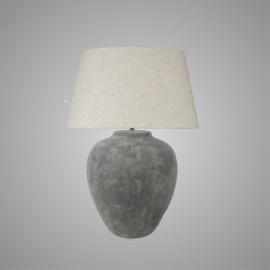 Vintage stenen kruik lamp  Large grjs
