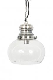 Halley Silver Glazen Bol Lamp Medium