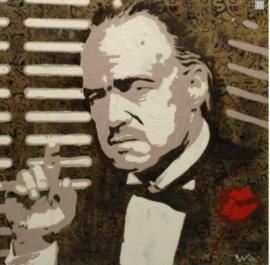 The Godfather Schilderij 1 x 1 meter