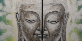 Boeddha schilderij 2 - luik