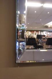 Foto frame met spiegellijst (leeg)