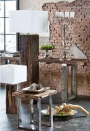 Ruw houten tafellampen