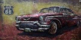 Chevrolet oldtimer rood 1950