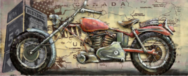 Metalen 3D schilderij – Red Motor Canada