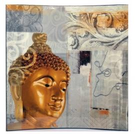 Boeddha lakpaneel in 3D