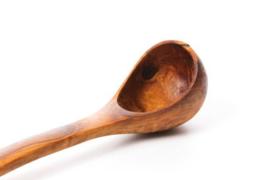 Olijfhouten sauslepel