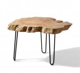 Lychee tafeltje  - Hout op metalen voet