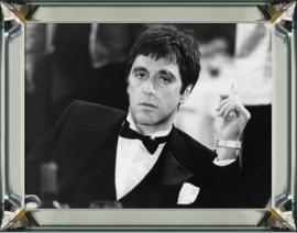 Al Pacino in spiegel lijst