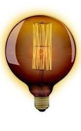 GLOBE lamp 125mm 40W E27 kooldraad