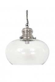 Halley Silver Glazen Bol Lamp Large