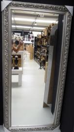 Barok spiegel 'oud' zilver  in 4 maten leverbaar