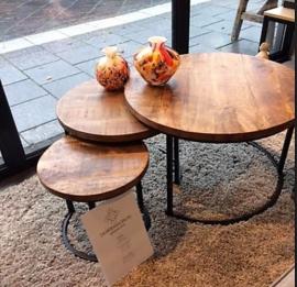 Salon tafel set Daan  - Massief mango hout