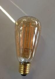 Led Edison Lamp  ST64 4w E27 230v 2500k Goud Dimbaar tronic dimmer