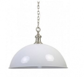 Halve bol lamp 'World Nickel'
