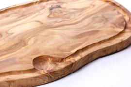 Olijfhouten snijplank met sapgoot