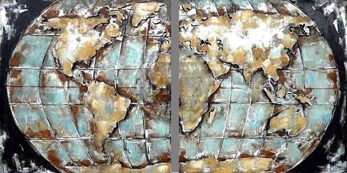 3d Schilderij Metaal.Metalen 3d Schilderijen