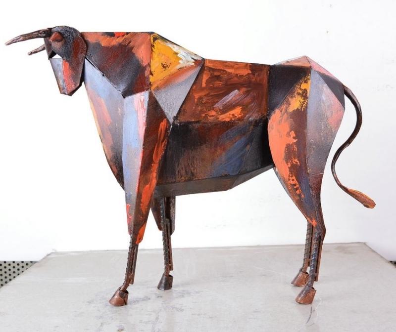 Spaanse Stier - Metalen beeld