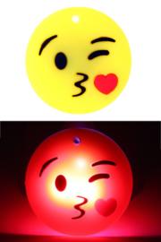 Smiley kusje pin met licht