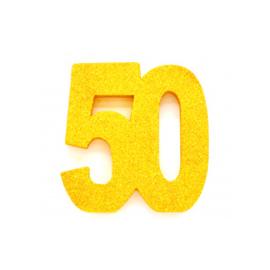 Tafel decoratie goud 50