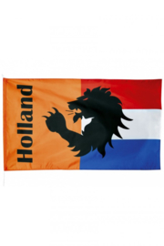 Oranje Gevelvlag met leeuw  90x150cm