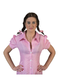 Blouse dames roze wit