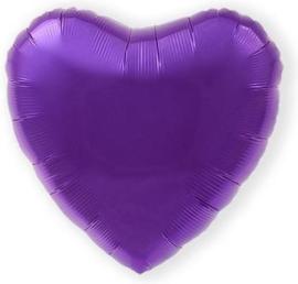 Folieballon hart ivoor excl.