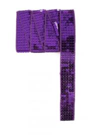 Paillettenband recht paars 3m